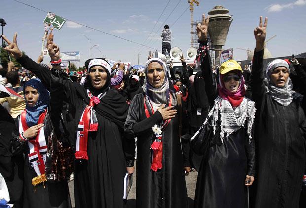 Aktivistice za prava žena u Jemenu.