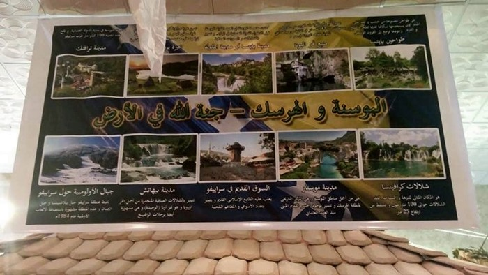 Plakat na kojem piše: Bosna i Hercegovina - Božiji džennet na Zemlji