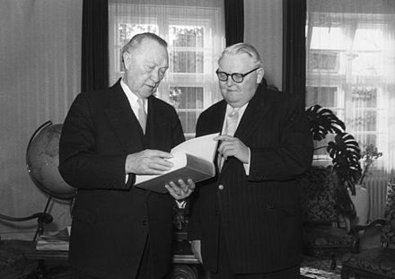 Konrad Adenauer i Ludwig Erhard