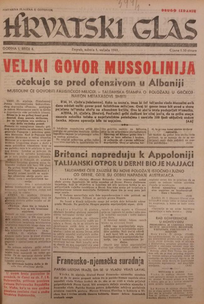 """""""Veliki govori"""" nisu dolazili samo od Pavelića i Hitlera, makar do jeseni 1943.; Činjenica da su ovakvi članci objavljivani i prije uspostave NDH svjedoči o nedvosmislenoj nacifašističkoj orijentaciji kaptolskog dnevnika"""
