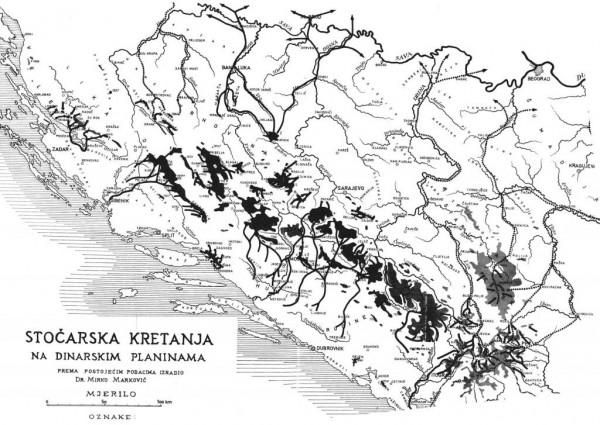 Stočarska kretanja Vlaha na Balkanu.
