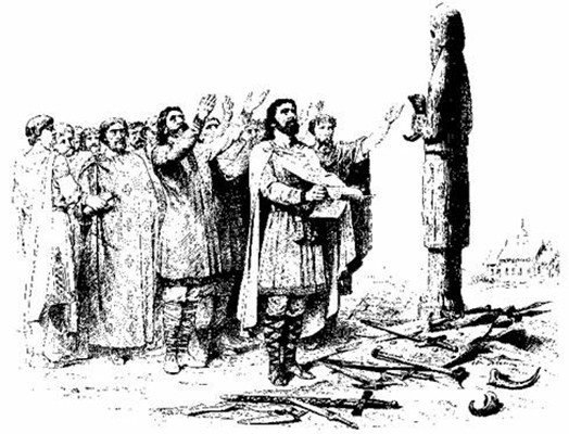 Obožavanje i prinošenje darova kipovima