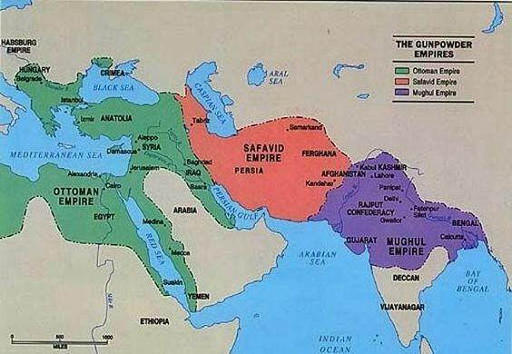 Mapa na kojoj se vidi područje na kojem se prostiralo Safevijsko carstvo.