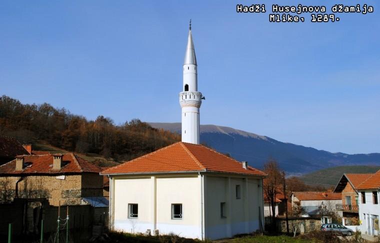 Hadži Husejnova džamija u selu Mlike (Kosovo)