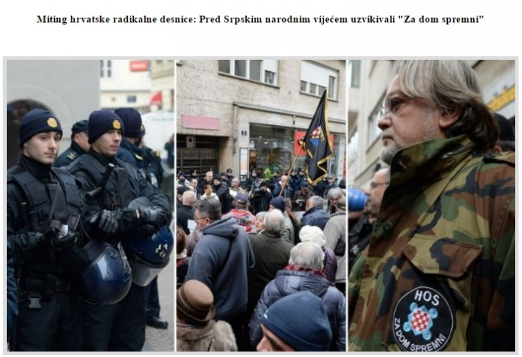 "Ustaški pozdrav ""Za dom spremni"" čuo se u sred evropeiziranog Zagreba, decembra 2016."