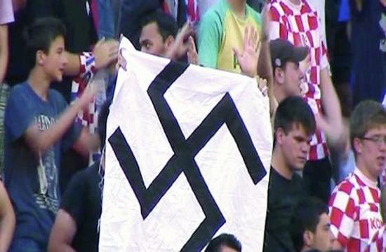Hrvatski navijači na utakmici Hrvatska - Gruzija, 2011. godine.