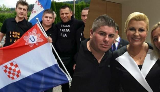 Hrvatski voditelj Velimir Bujanec i poglavnica Grabar-Kitarović.