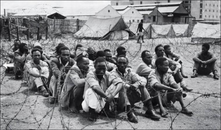 Mau Mau ustanici u koncentracionim logorima.