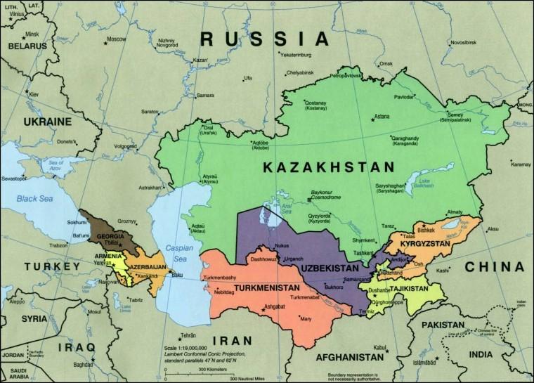 mapa azije GEOPOLITIKA U MAPAMA: Centralna Azija i razlozi mogućih sukoba  mapa azije