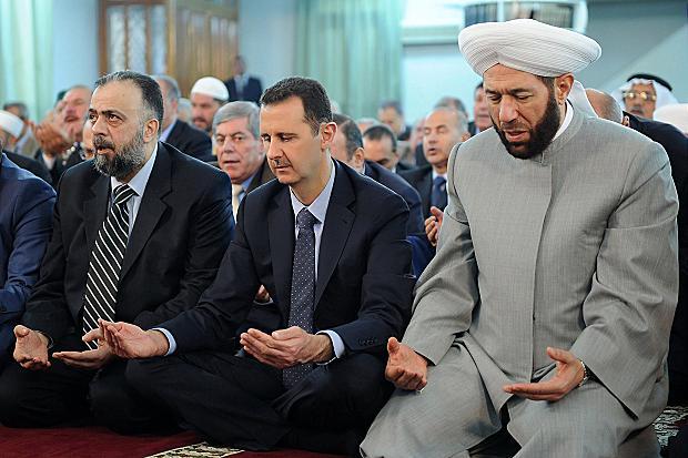 Bašar al-Assad i sirijski muftija lojalan režimu Ahmed Hasoun.
