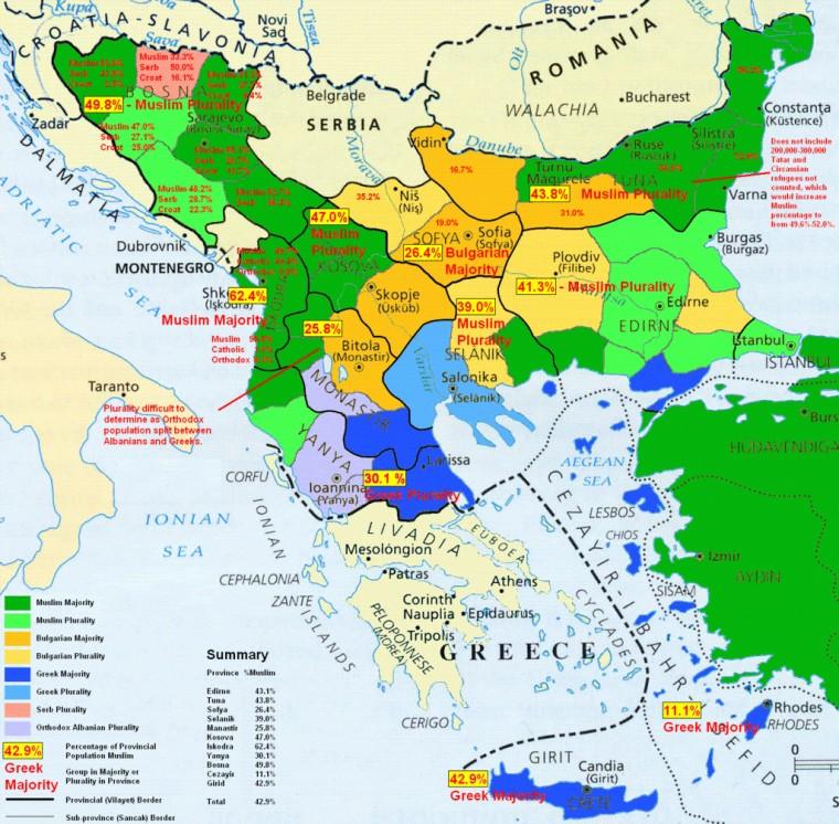 Mapa Balkan