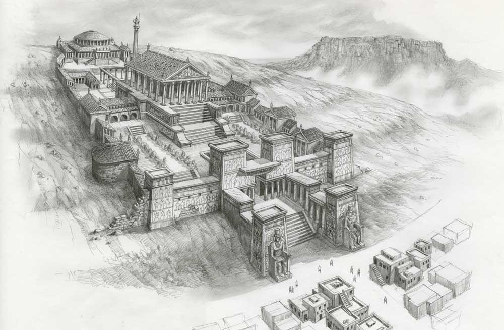 Nekadašnji izgled Aleksandrijske biblioteke