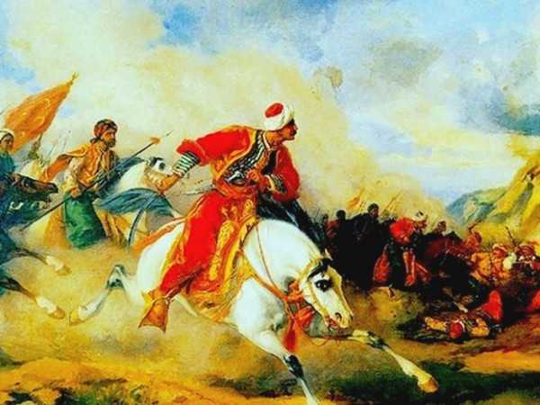 Slika na kojoj je predstavljena bitka kod Čaldirana
