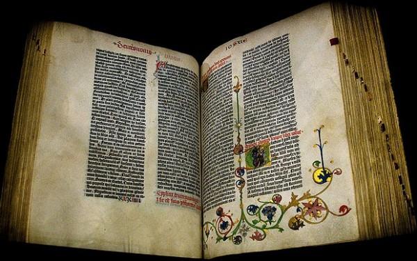 Primjerak Gutenbergove Biblije iz 1450-55, prodan je za 4.9 miliona dolara 1987. godine.