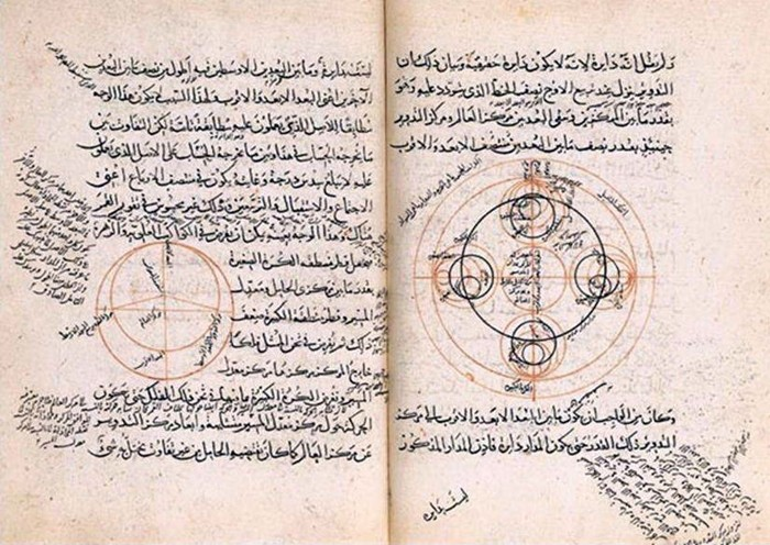 Djelo Tadhkira fi 'ilm al-hay'a (Memoari o astronnomiji) Nasir al-Dina al-Tusija iz 1389. godine, a danas se čuva u Parizu u Bibliothèque Nationale de France.