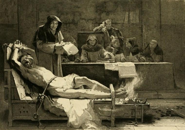 Inkvizicija i prženje stopala na vatri